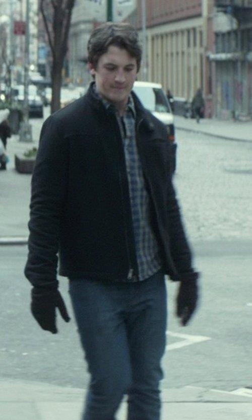 Miles Teller with Prada Straight Leg Denim Pants in That Awkward Moment