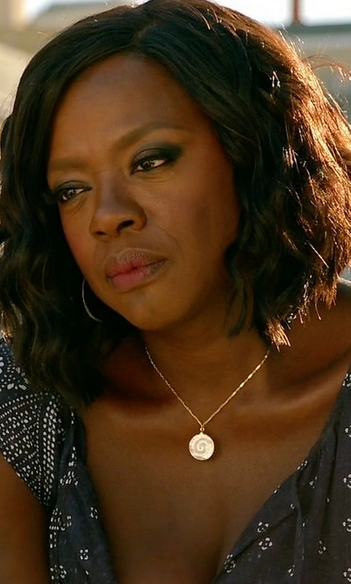 Viola Davis with Joie Manalia Printed Silk Maxi Dress in How To Get Away With Murder