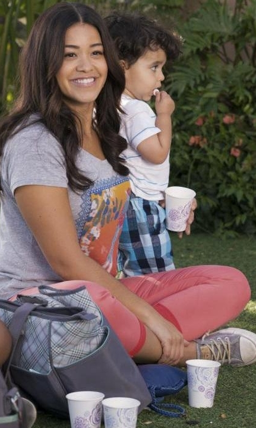 Gina Rodriguez with LPA 120 Sweatpants in Jane the Virgin