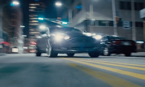 Jason Statham with Aston Martin DB9 Coupe in Furious 7