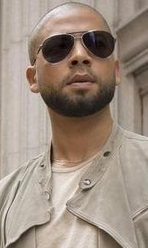 Jussie Smollett with Ermenegildo Zegna Aviator Sunglasses in Empire