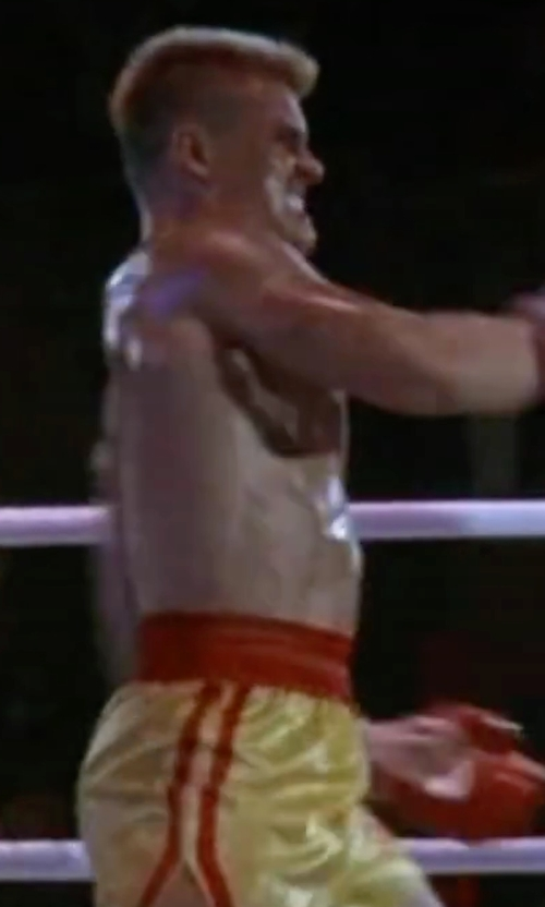 "Dolph Lundgren with MMABLAST ""Thai Boxing"" Shorts in Rocky IV"