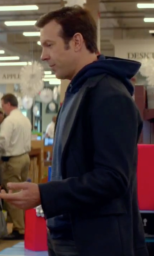 Jason Sudeikis with Vince Pullover Hoodie in Sleeping with Other People