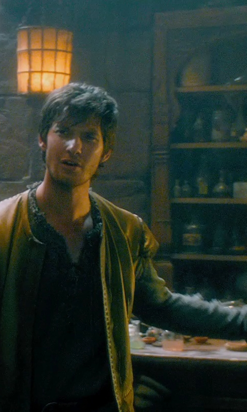 Ben Barnes with Jacqueline West (Costume Designer) Custom Made Medieval Knit Tunic (Tom Ward) in Seventh Son