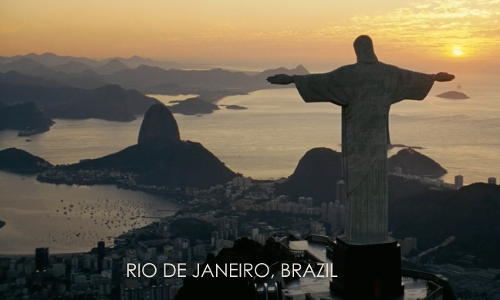 Unknown Actor with Sugarloaf Mountain Rio De Janeiro, Brazil in Fast Five