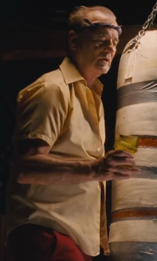 Bill Murray with Van Heusen Men's Short Sleeve Oxford Dress Shirt in St. Vincent