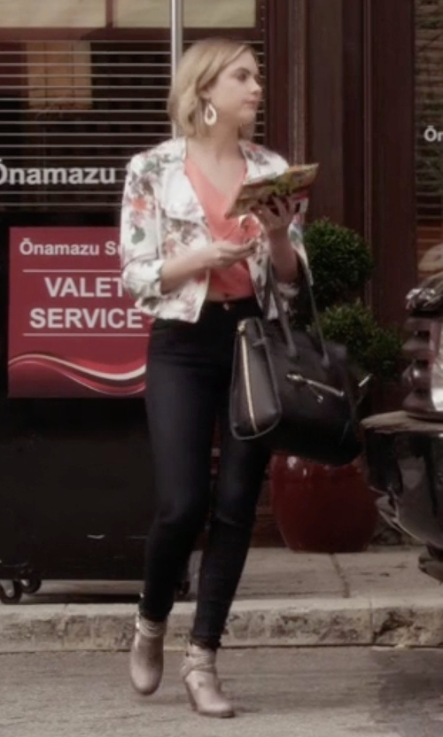 Ashley Benson with Jeffrey Campbell 'Watson' Boots in Pretty Little Liars