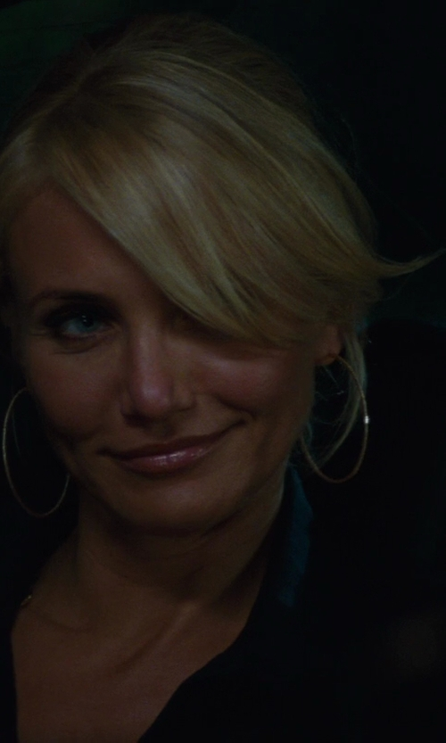 Cameron Diaz with Ippolita	 Thin Glamazon Hoop Earrings in The Other Woman