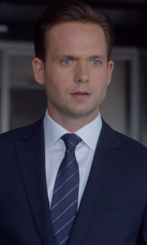 Patrick J. Adams with Givenchy Classic Formal Suit in Suits