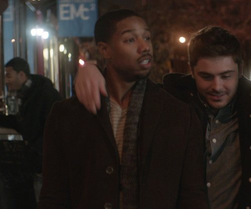 Michael B. Jordan with London Fog Men's Ledyard Topper Coat in That Awkward Moment