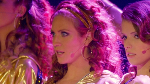 Brittany Snow with Natasha Accessories Double Twist Stretch Headband in Pitch Perfect 2