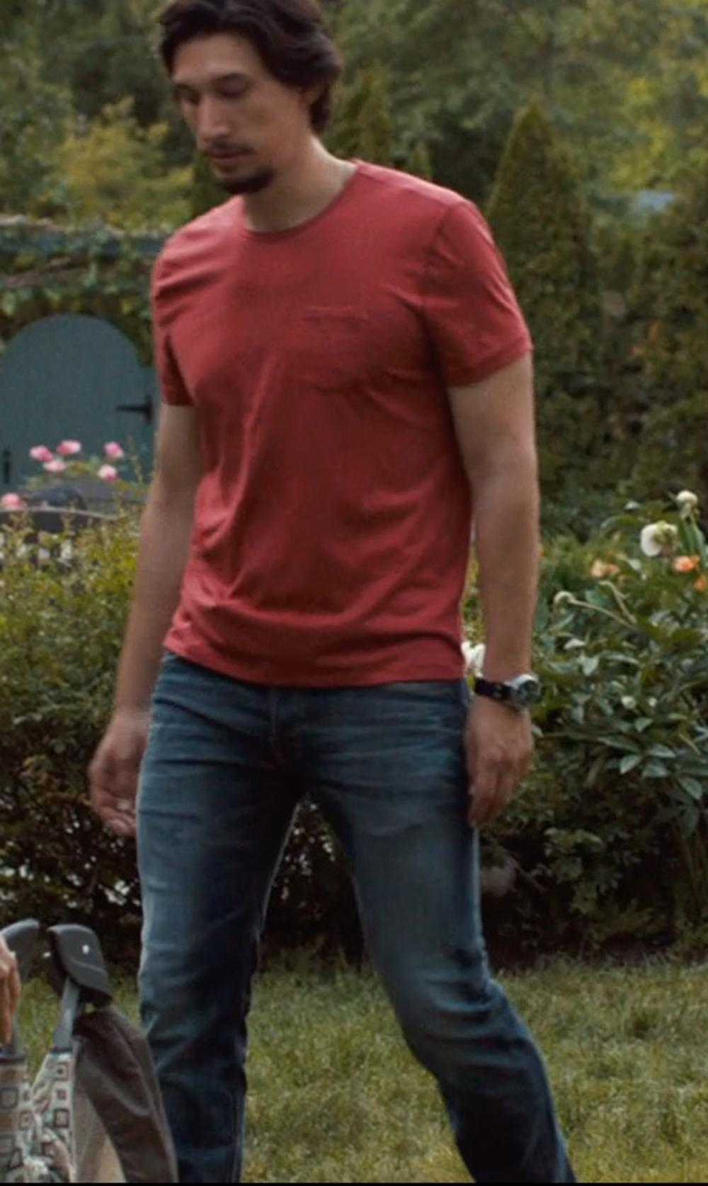 Adam Driver with DENIM & SUPPLY RALPH LAUREN Slim-Fit Orleigh-Wash Jeans in This Is Where I Leave You