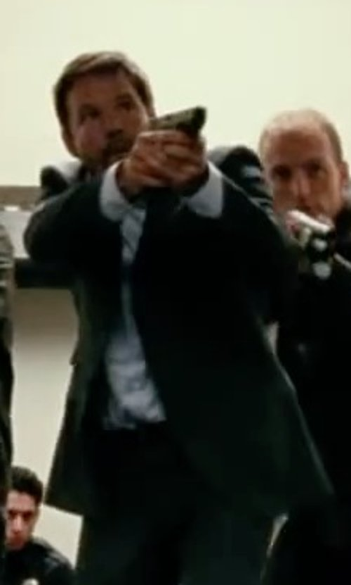Dylan Bruno with Boss Hugo Boss 'Jameson' Slim Fit Tuxedo Shirt in Taken 3