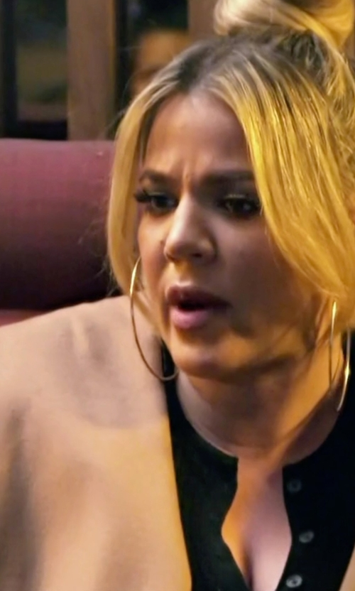 Khloe Kardashian with The Row Muna Belted Long Robe Coat in Keeping Up With The Kardashians