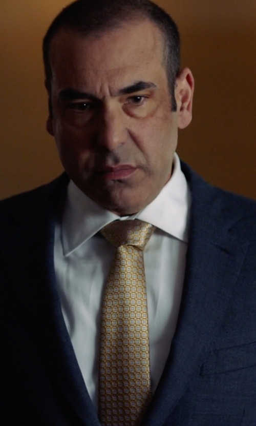 Rick Hoffman with Emma Willis Cotton Dress Shirt in Suits