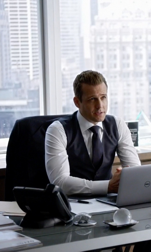 Gabriel Macht with Polo Ralph Lauren Three Piece Suit in Suits
