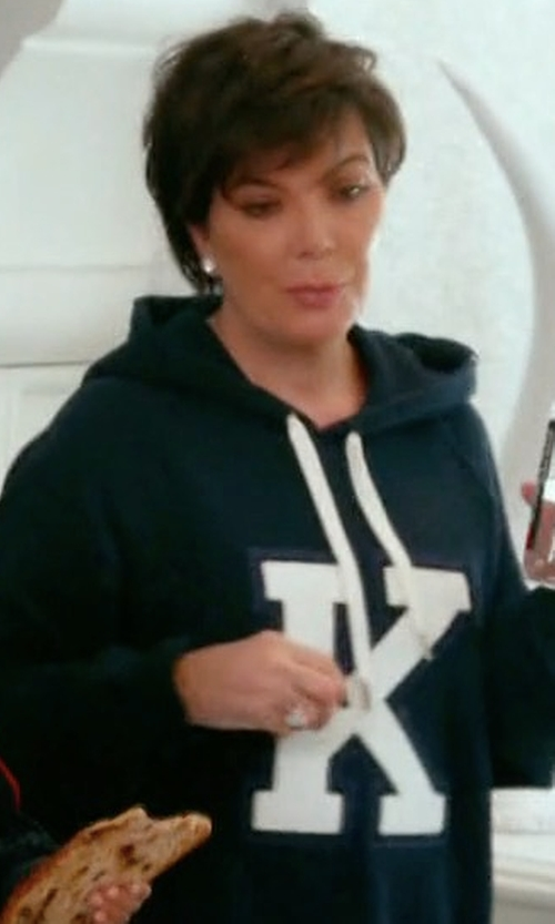 Kris Jenner with Good American Good Hoodie in Keeping Up With The Kardashians