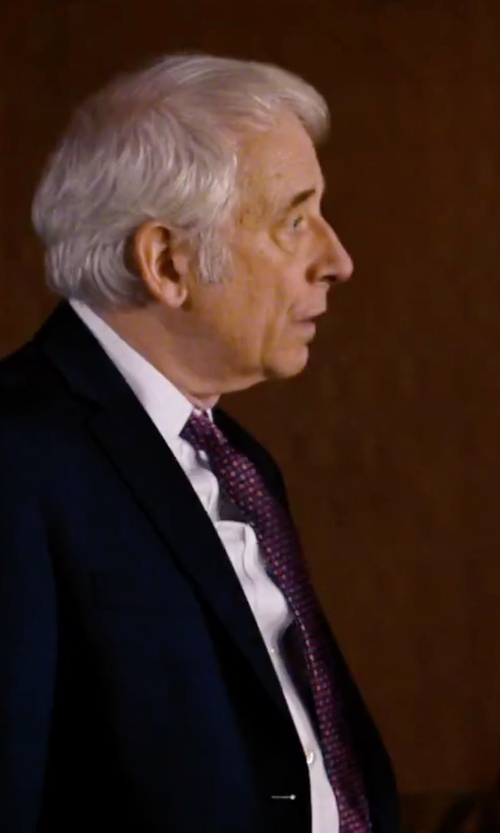 Austin Pendleton with Armani Collezioni Geometric Medallion Print Silk Tie in She's Funny That Way