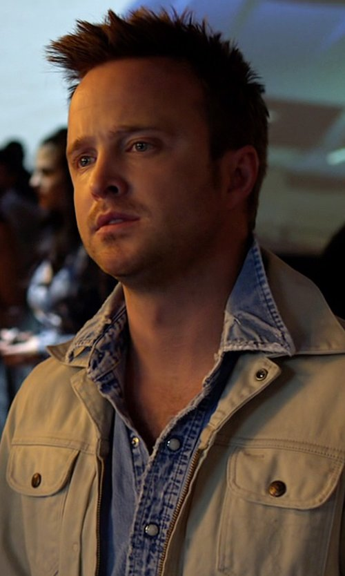 Aaron Paul with Ralph Lauren Denim Coulman Western Shirt in Need for Speed