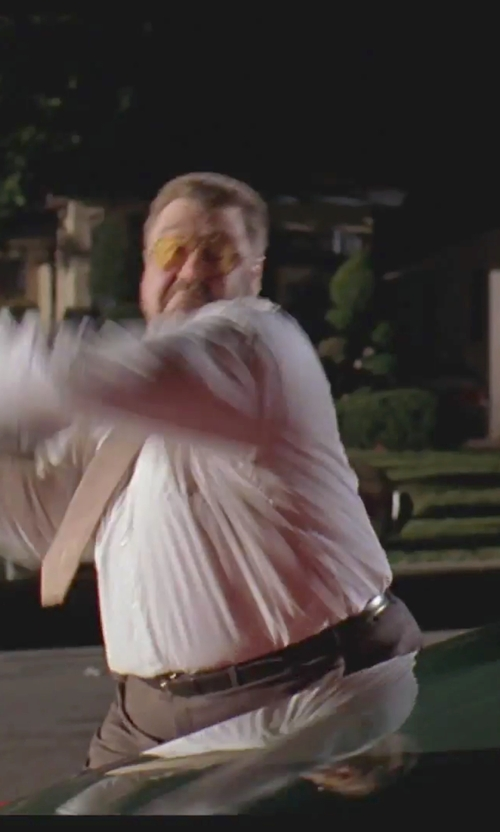 John Goodman with Florsheim Full Grain Leather Single Stitched Edge Belt in The Big Lebowski