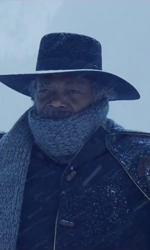 Samuel L. Jackson with Asos Flat Top Hat in The Hateful Eight