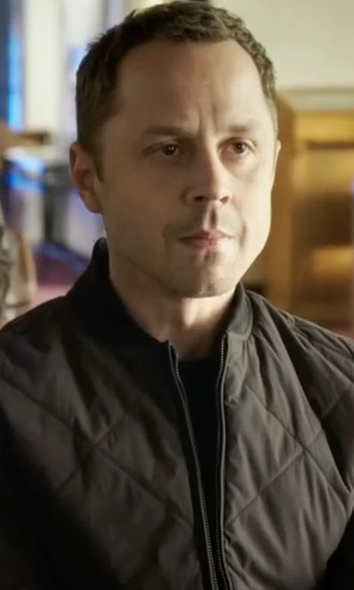 Giovanni Ribisi with Burberry Gillington Quilted Jacket in Sneaky Pete