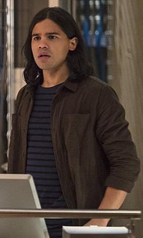 Carlos Valdes with Replay Shirt Jacket in The Flash