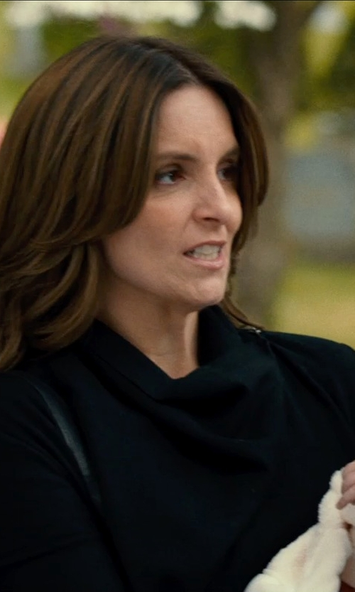 Tina Fey with Boutique Moschino Crew Neck Cardigan in This Is Where I Leave You