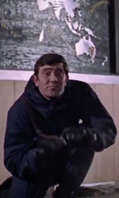 George Lazenby with Helly Hansen Clandestine Ski and Snowboard Jacket in On Her Majesty's Secret Service