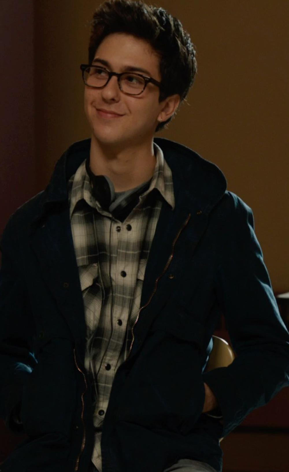 Nat Wolff with Pendleton Men's Classic Board Shirt, Black/Charcoal/Tan Plaid in The Fault In Our Stars