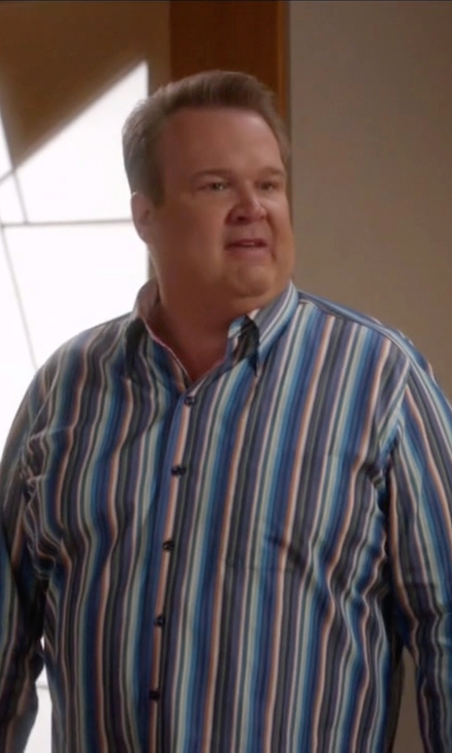 Eric Stonestreet with Tommy Bahama Mo' Raj Stripe Shirt in Modern Family