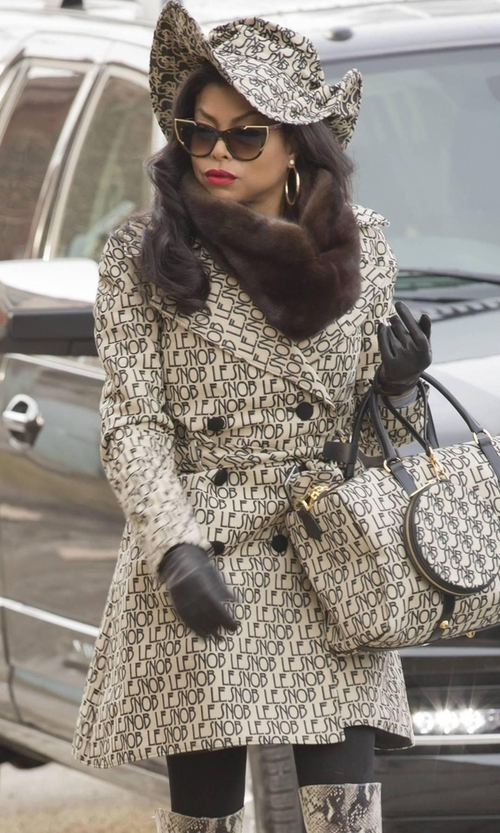 Taraji P. Henson with Le Snob Canvas Trench Coat in Empire