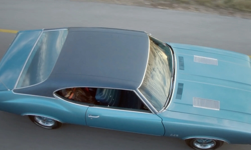 Blake Jenner with Oldsmobile 1972 442 Coupe in Everybody Wants Some