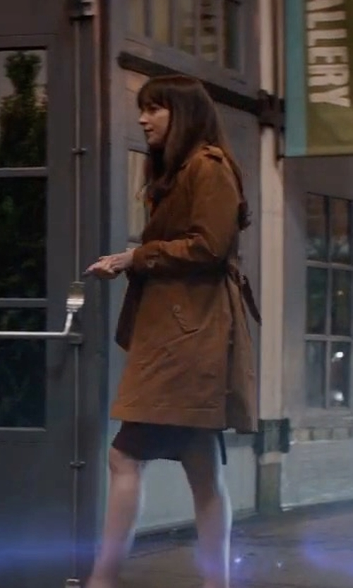 Dakota Johnson with Sandro Malory Trench Coat in Fifty Shades Darker