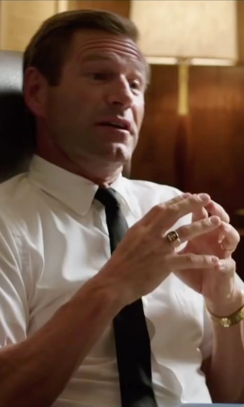 Aaron Eckhart with Mark And Graham Homme Signet Ring in My All American