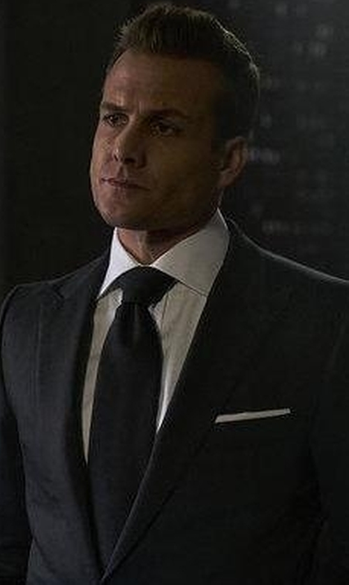 Gabriel Macht with Lanvin Grosgrain Tie in Suits