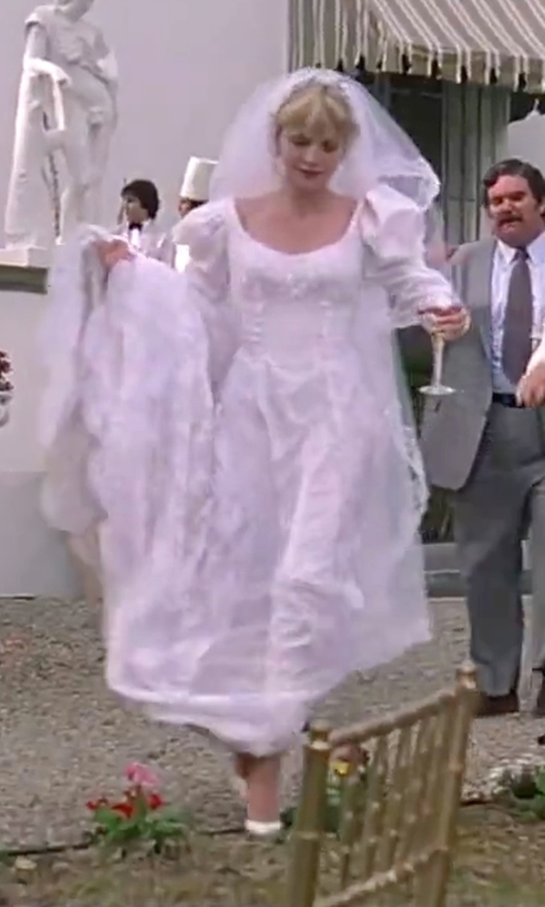 Michelle Pfeiffer with Etsy Vintage 80's Victorian Wedding Gown in Scarface