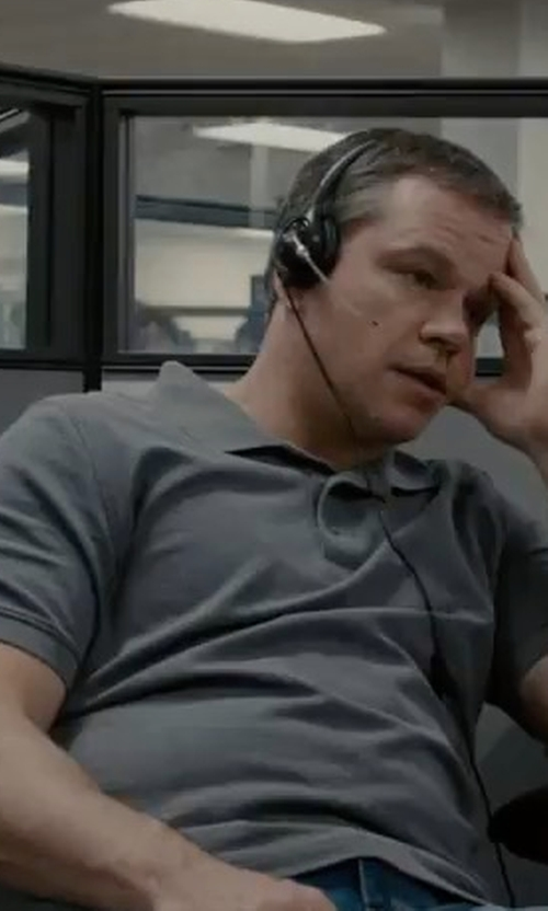 Matt Damon with Psycho Bunny The Classic Piqué Polo Shirt in Downsizing
