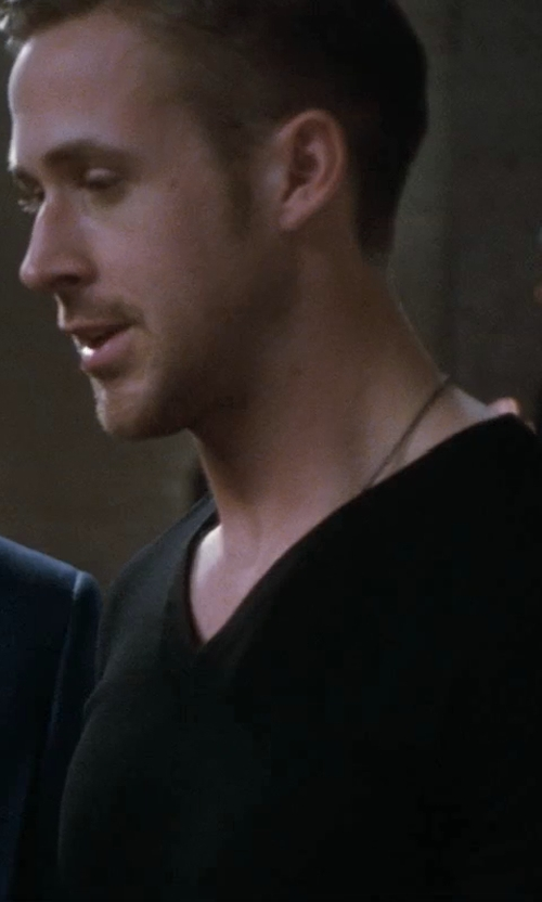 Ryan Gosling with Dior Homme Bee Embroidered Wool V Neck Sweater in Crazy, Stupid, Love.