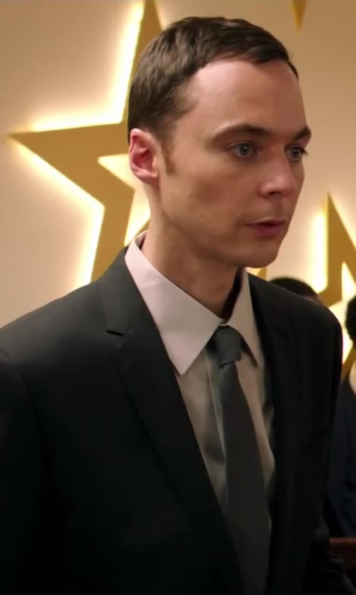 Jim Parsons with Coveri Collection Solid Twill Silk Tie in Wish I Was Here