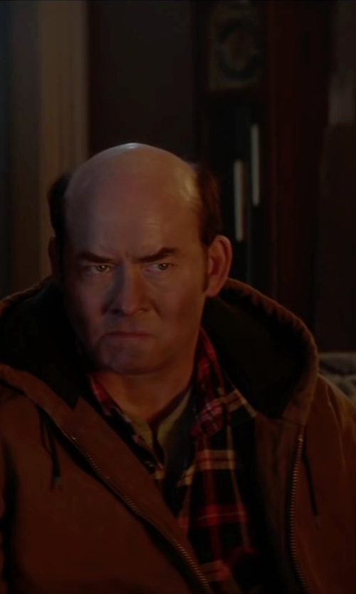 David Koechner with Uniqlo Flannel Check Long Sleeve Shirt in Krampus