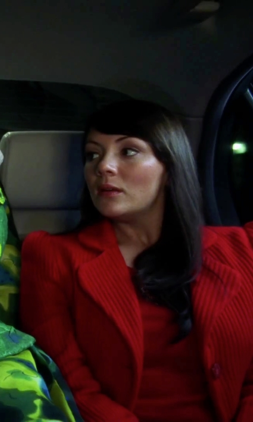 Martine McCutcheon with Larry Levine Wool Blend Walking Coat in Love Actually