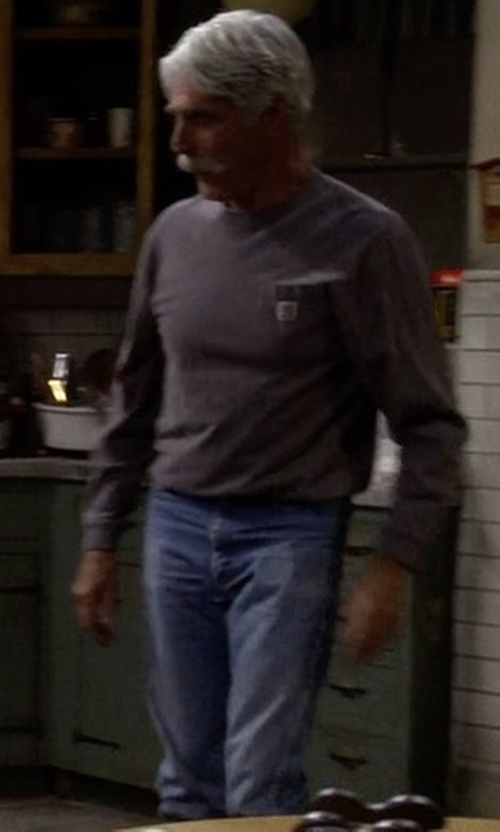 Sam Elliott with Frame Denim L'Homme Skinny Jeans in The Ranch