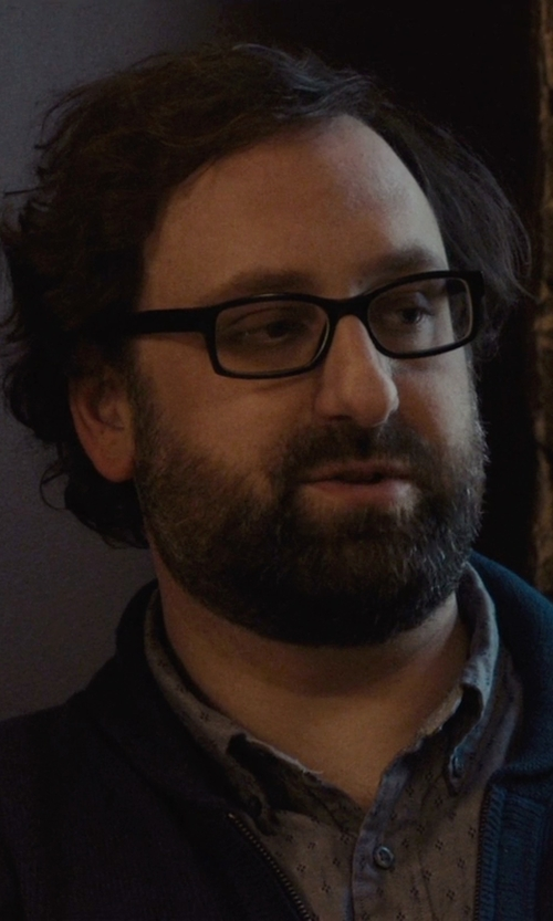 Eric Wareheim with !Solid Two Tone Pattern Shirt in Master of None