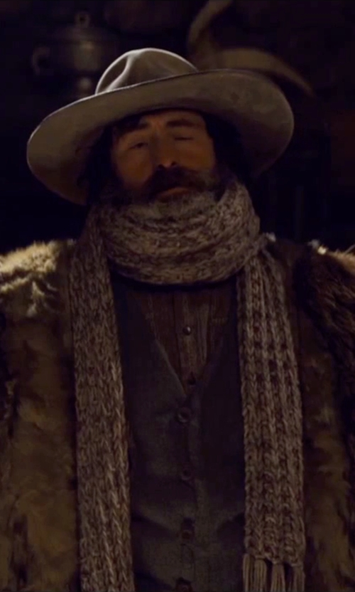 Demian Bichir with CA4LA Reversible Fedora Hat in The Hateful Eight