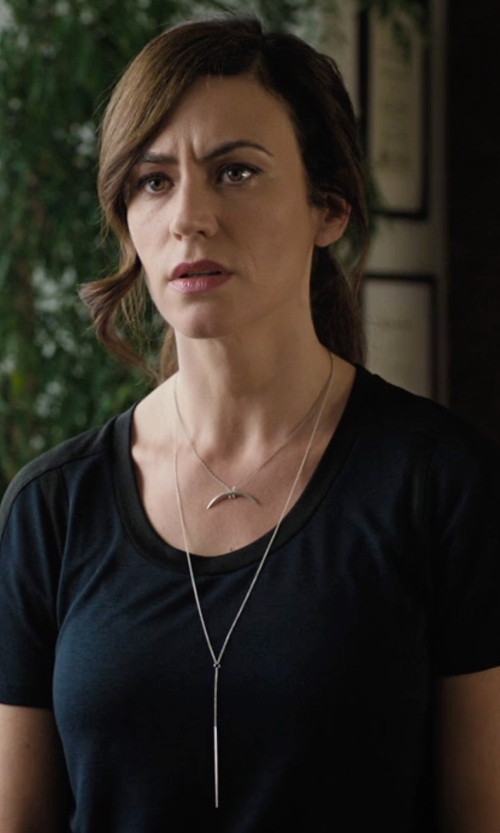 Maggie Siff with G-Star Adisyon Pocket Tee in Billions