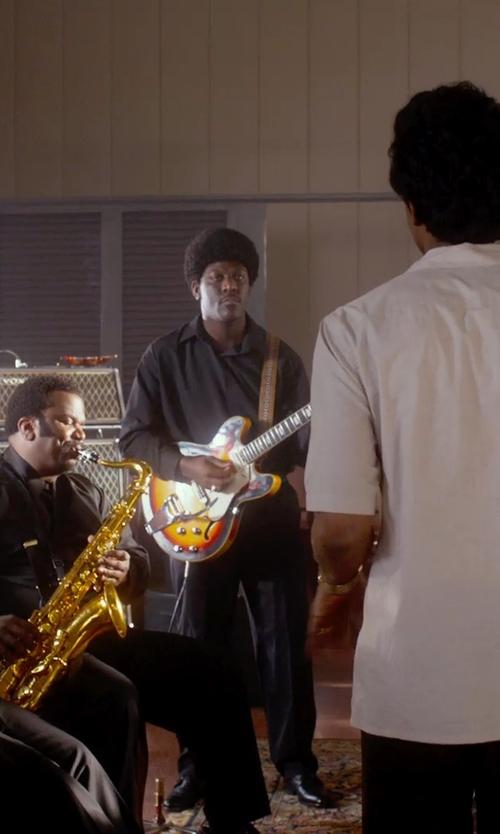 Unknown Actor with Dean Guitars Dean Palamino Guitar Vintage Sunburst in Get On Up