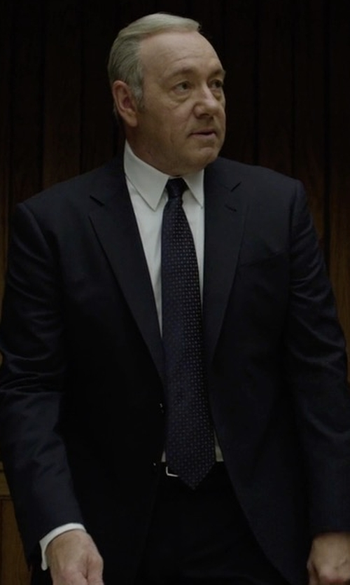 Kevin Spacey with Emporio Armani Two Button Suit in House of Cards