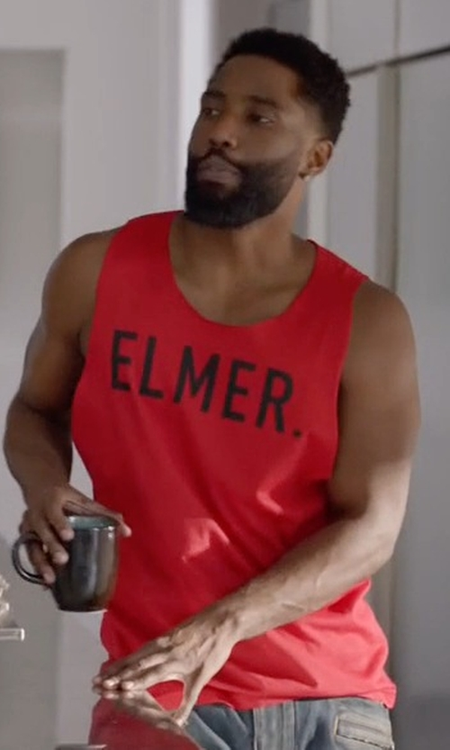 John David Washington with Dsquared2 Modified Elmer the Canadian Hunter T-Shirt in Ballers