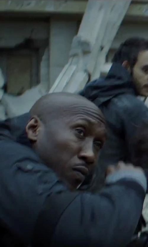 Mahershala Ali with Kurt and Bart (Costume Designer) Custom Made Battle Suit (Boggs) in The Hunger Games: Mockingjay - Part 2